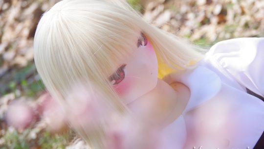 大寒桜を撮る!ふぇありーどーる「おすわり」のの(1)